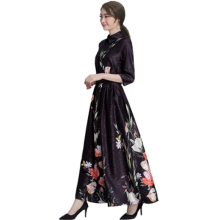 Buy 2017 Spring Vintage Floral Long Party Dresses Bohemian 3/4 Sleeve Womens Flower Maxi Dress Puse Size Women Clothing Robe Femme for $30.82 in AliExpress store