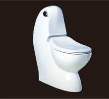 2016 new style water closet one piece S-trap ceramic toilets with PVC Adaptor and soft close seat cover AST131