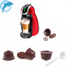1/2/3/4pcs/pack Food Grade Plastic Reusable Coffee Capsules for Dolce Gusto Refillable Refill Brewers Nescafe Cup Coffee Filter(China)