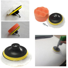 Newest 5 Pcs/Set 4 inch Buffing Pad Auto Car Polishing Sponge Wheel Kit With M10 Drill Adapter Buffer High Gross Hot Selling