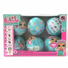 6pcs/set Series 1 LOL Surprise Doll Color Change Egg Ball Toys Dress Up Toy Action Figure Dolls Funny Toys Girls Gift Randomly(China)