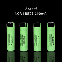 4 pcs / PCS 2017 new original 18650 3400 MAH battery 3.7 V Li ion rechargebale ncr18650b battery + free shopping