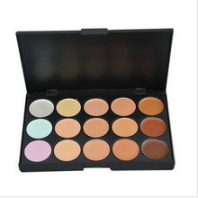 by ems or dhl 500pcs 15 Colors Face Concealer Neutral Palette 15 Color Makeup Tools Scar Cream Face Camouflage Body Foundation(China)
