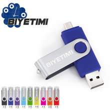 Biyetimi Promotion The OTG Phone USB Flash Drive Universal Smart Phone OTG USB Pen Pendrives 4gb 8gb 16gb 32gb 64g U Disk(China)