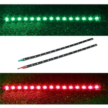 Auto Accessories 2x Boat Navigation LED Lighting RED & GREEN Waterproof Marine LED Strips  @#126