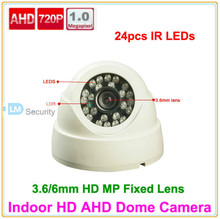 Lihmsek Security 1.0 MP 720P AHD Reviews Balun 1200TVL IR bullet Outdoor HD AHD Camera Dome Type with 24pcs IR LEDS(China)