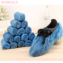 100 Pcs / Pack Portable Plastic Disposable Shoes Covers Overshoes Home Cleaning