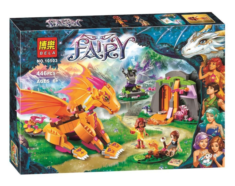 Bela 10503 Elves Fire Dragons Lava Cave Blocks Bricks Toys Compatible with Decool Lepin Sluban 41175<br><br>Aliexpress