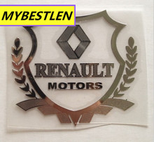 car styling case for renault duster megane 2 logan clio  metal Badge sticker metallic copper emblem car accessories