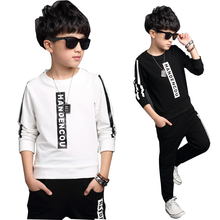 Children Suit Boys Tracksuit Autumn 2016 Cotton Sport Clothes Pant Set Fashion Kids Outfit Brand Streetwear Casual Child Garment