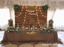 "90""x156"" Copper Shinny Sequin Tablecloth for Halloween/Thanksgiving Day/Wedding/Party/Curtain/Birthday-a(China)"