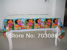 dora PE rectangle tablecloth for children birthday,party,festival,banquet decoration220*132cm