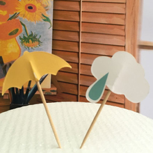 24pcs/lot Rainy Umbrella and Cloud Party cupcake toppers picks decoration for Wedding party favors Decoration supplies
