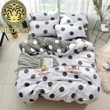 Medusa 2018 Vintage Polka Dot Modern Bed Linen Set King Queen Double Single  Size Duvet Cover