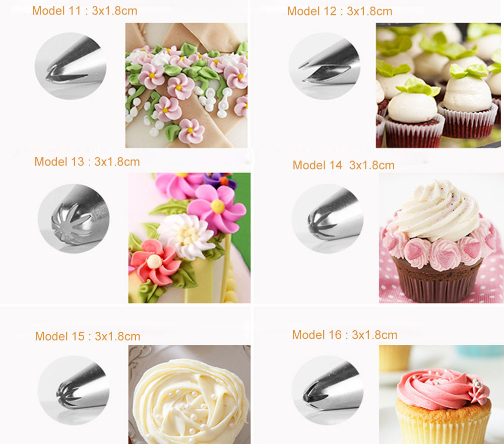 MAY FIFTEENTH Cake Decorating Tools 31pcs Pastry Bag Nozzles Piping Icing cream Piping Nozzle Pastry for Cake Cupcake Decoration (5)