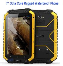 "MFOX Pad MTK6752 Octa Core 7"" PDA IP68 Rugged tablet PC waterproof phone unlocked cell phones Android 5.1 2GB RAM 13.0MP Camera"