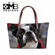 Neoprene Shoulder Handbag Pattern Dog Clear Hand Bag Animal Print Handbags Cute Large Tote Bags for Ladies Girly Shopping Bags