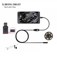 Android endoscope camera 5.5mm lens, Hard Cable wire length 1m 2m 3.5m support Win computer(China)