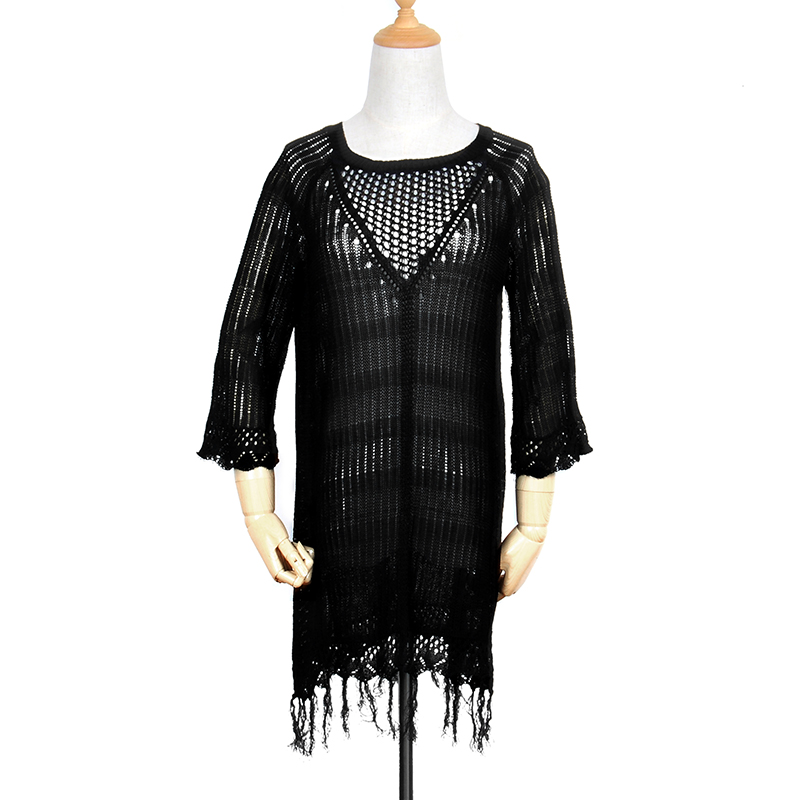 New 17 Beach Tunic Sexy Cover Up Women Beach Blouse Crochet Pareo Swimsuit Cover-ups Beach Dress Summer Beach Wear Swimwear 13