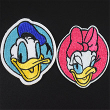 Clothes lovers Embroidered patch iron on patches for clothing 2pcs Donald Duck Diy Jacket Shirt Polo Cap Jeans Free shipping