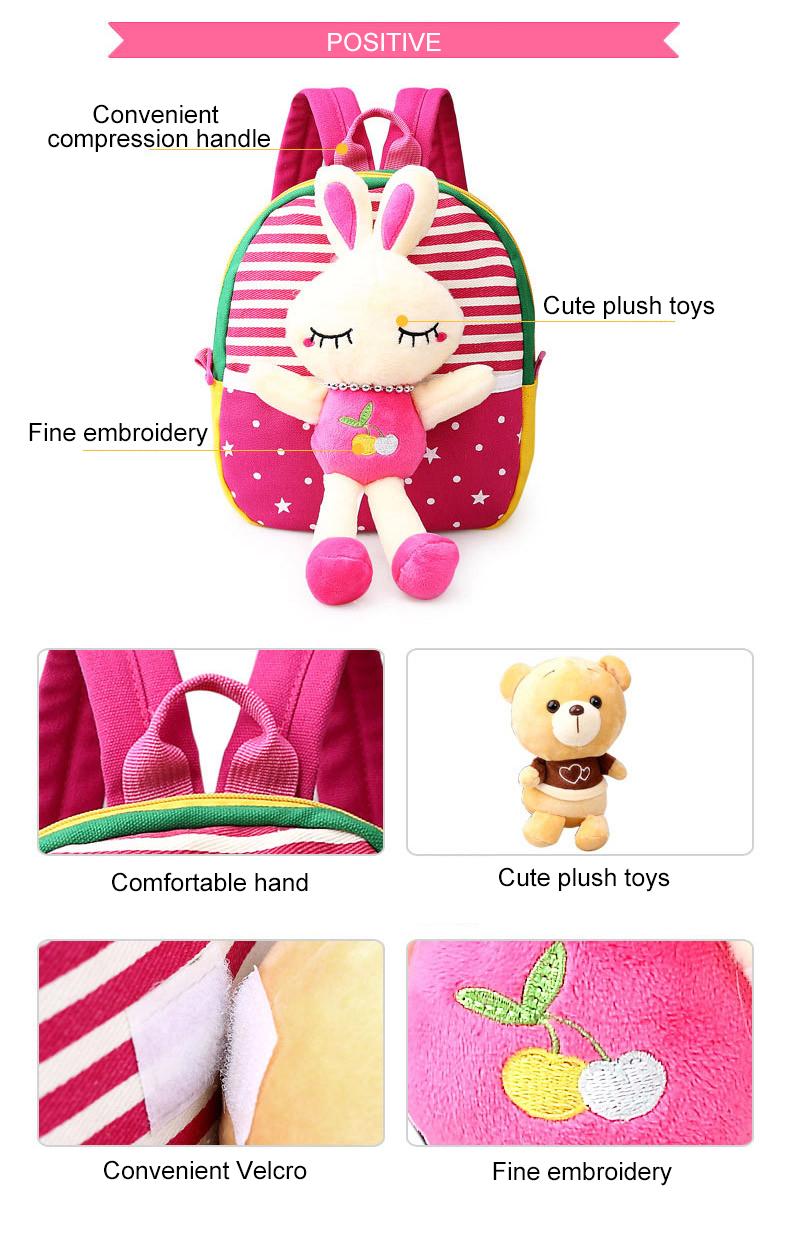 Korean Style Children Toddler Cartoon Stuffed Plush Backpacks baby girls boys cute toys schoolbag backpack (11)