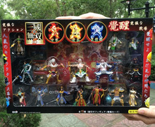 1set Gift box Online Game Dynasty Warriors 5 Action figure doll.7cm kids pvc cosplay collection gift guanyu diao chan