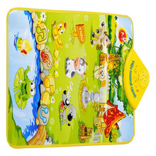 Kids Baby Farm Animal Musical Music Touch Play Singing Gym Carpet Mat Toy Gift wholesale