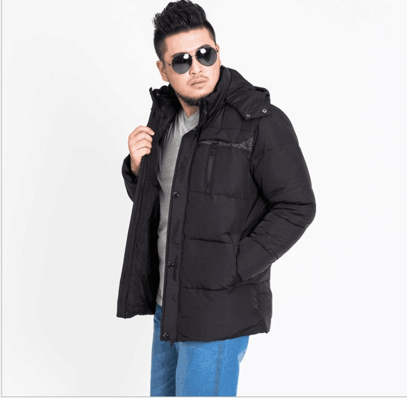 2018 new arrival men's down jacket red chest 160- 185cm obese warm winter -20degree can be wear with hood plus size XL-9XL-13XL
