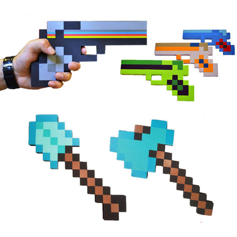 1pcs New Minecraft Toys Minecraft Game Foam Weapons Sword Axe Shovel Gun EVA Model Toys Action Figure Toy Gift for Kids Game(China (Mainland))