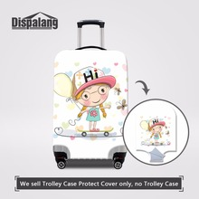 Dispalang Cartoon Girl Print Luggage Protector Cover Elastic 18-30 Inch Suitcase Cover With Zipper Waterproof Travel Accessories