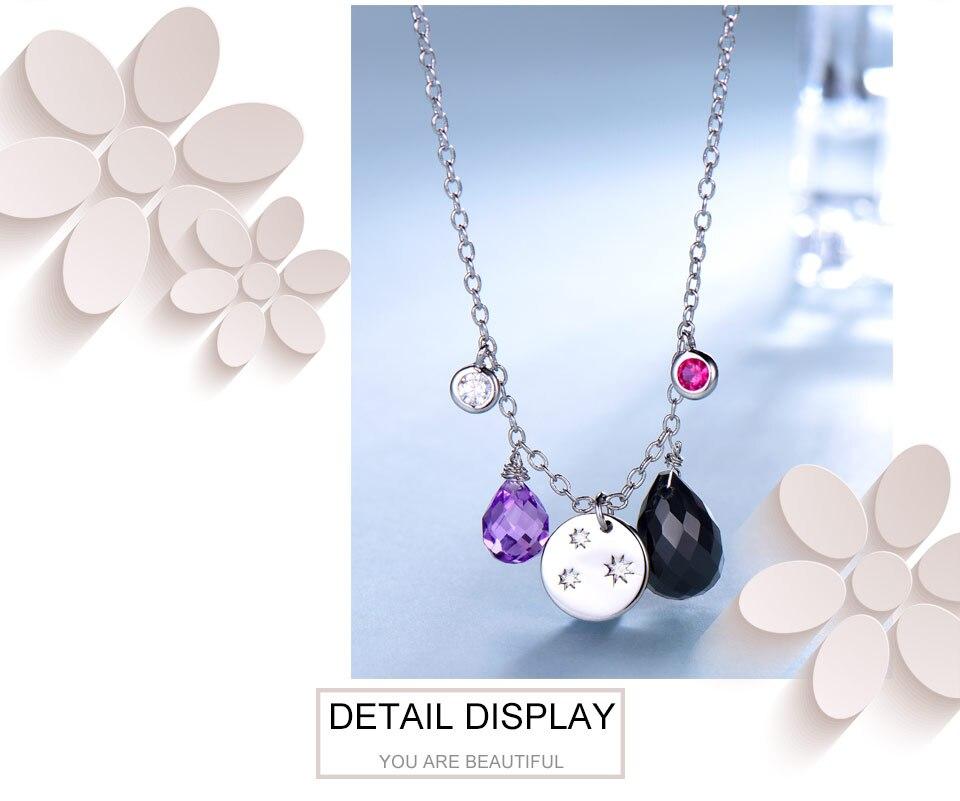silver amethyst flower necklace for women (5)