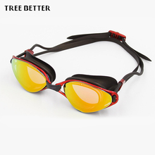 Swimming glasses waterproof anti-fog Coating Large box Swim goggles Water sports spectacles Women Men pool Eyewear Accessories(China)