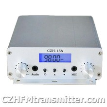 CZH-15A 15W FM stereo PLL broadcast transmitter wholesale   free shipping