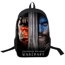 New Design World of Warcraft Bag WOW Printing Backpack for Teenagers Travelling Rucksack Schoolbag Game Player Favorite Gift(China)