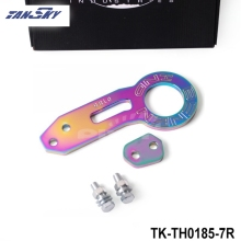 TANSKY - NEO CHROME STEEL REAR BUMPER HIGH STRENGTH RACING TOW HOOK SET D (Fits: Universal) TK-TH0185-7R