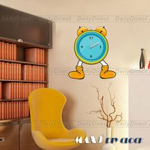1x Wholesale Large DIY Creative Wall Sticker Funny Minifig Alarm Clock Decal Room Decor 25A008 MAX3 Brand Room Decor