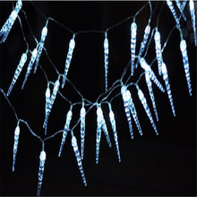 50LED Battery Operated LED Icicle Stick Fairy String Lights for Party Wedding Christmas Winter Home Decoration(China)
