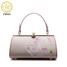 2017 Summer New Embroidery Lotus Elegant Mini Ladies Handbag Frame Designer Chain Shoulder Bag 120121