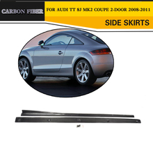 Carbon Fiber Racing Side Body Skirts Lip Car Styling for Audi TT 8J Convertible Coupe 2-Door 2008-2011