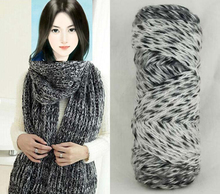 2 pieces  Mohair scarf line fashion knitting yarn for crochet fiber wool gradient yarn Baby sweater hand knitting needle zl4