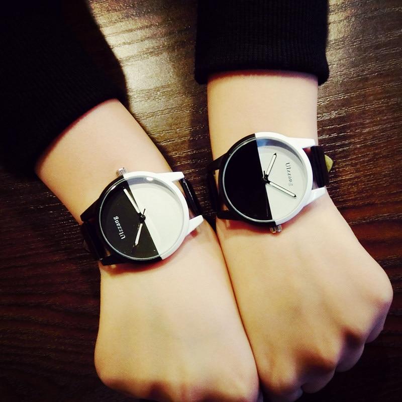 Original ulzzang Brand Soft Silicone Strap Jelly Quartz Watch Wristwatches for Women Ladies Lovers Black White<br><br>Aliexpress