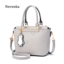 Nevenka Brand Fashion Women Pu Leather Shoulder Bags Female Floral Handbag Embroidery Hobos Bag 2017 Red/Purple/Pink/Gray/Black(China)