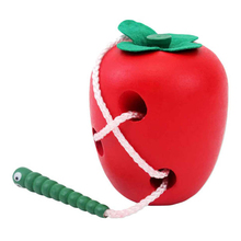Kids Toy Unique Apple big eat insects Material wooden toy Kids educational toys for children Gift baby wooden toys