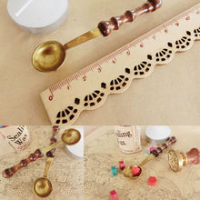 High Quality Wax Stamp Sealing Wax Spoon Vintage Wood Handle Sealing Wax Spoon Anti Hot Wax Spoon Melt Dissolve Stamp Spoon
