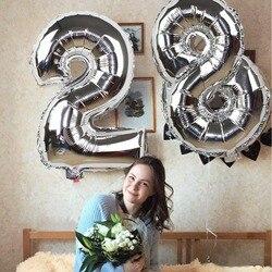 Декоративный фольгированный надувной шар-цифра