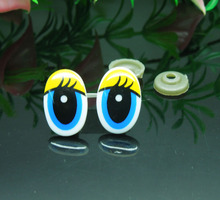 13*20mm Oval Safety Eyes Yellow/Blue Color Plastic Doll eyes Handmade Accessories For Bear Doll Animal Puppet Making - 100pcs(China)