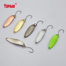 YAPADA Spoon 013 Loong Claw 2g/3g/5g 32-38-45mm BKK HOOK Multicolor 6piece/lot Metal Spoon Fishing Lures