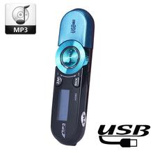 USB LCD  MP3 Player Support Flash TF card Player MP3 Music with FM Radio Mini Blue USB Digital MP3 Player Registratore