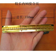 150*9MM Long  Metal hinge  90 degrees positioning hinge  Wooden Gift Box Hinge  Yellow  Wholesale