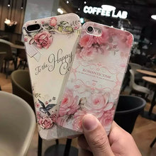 2017 Newest Flowers pattern For iphone 7 Case soft TPU For Apple iPhone 7 plus case covers HD 3D printing TPU Flower Pattern